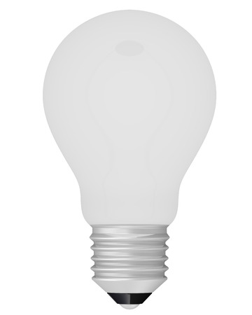 incandescent: Frosted incandescent lamp on a white surface. Isolated. 3D Illustration Stock Photo