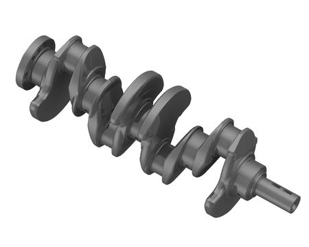 crankshaft: The crankshaft of the internal combustion engine