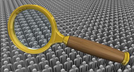 personnel: Recruitment (search) personnel. Concept Stock Photo
