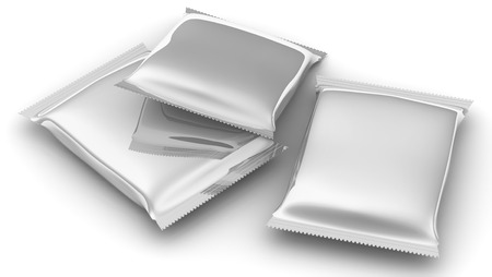 consumer: Flexible consumer packaging. Sealed packages from a polymeric film. Model of consumer packaging