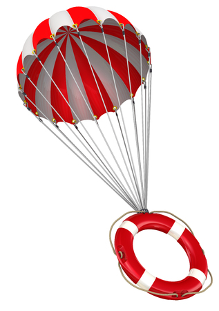 Lifebuoy on a parachute