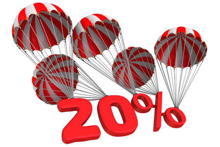 twenty: Twenty percent is flying on parachutes
