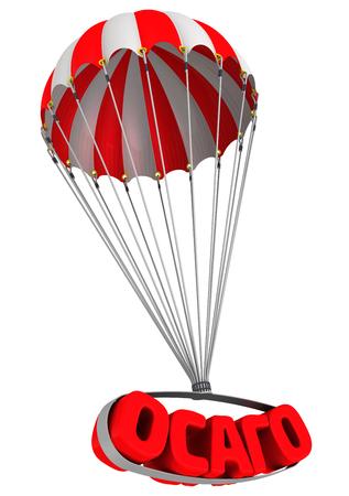 liability insurance: Abbreviation of automobile civil liability insurance (Russian language) is falling down on parachute