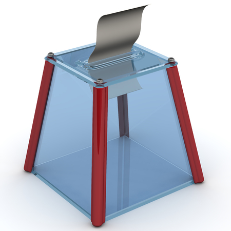 ballot papers: Election ballot box and ballot paper Stock Photo