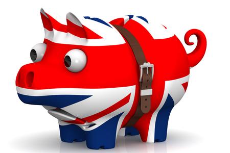 crisis economica: La crisis económica de la Gran Bretaña. Concepto Foto de archivo