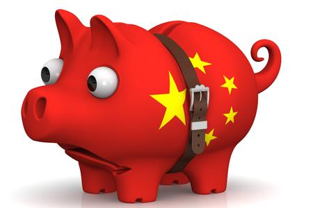 crisis economica: crisis económica de China. Concepto