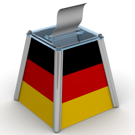ballot papers: The ballot box with the flag of Germany
