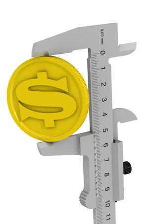 Measurement of profit. Concept Stock Photo