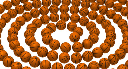 basketballs: Basketballs arranged in a spiral Stock Photo