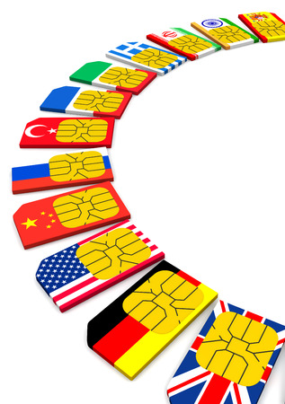 tariff: SIM card with the image of flags of States