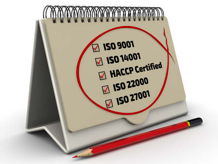 iso: List of ISO standards with the checklist in the desktop organizer