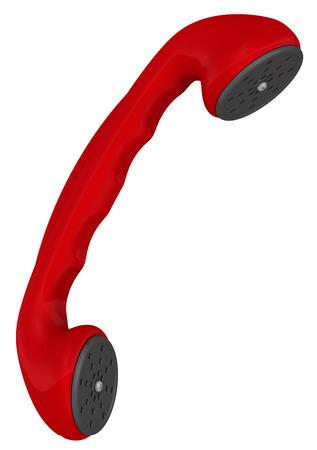 handset: Red telephone handset