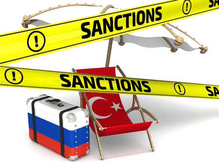 enmity: Russian sanctions against Turkey. Concept