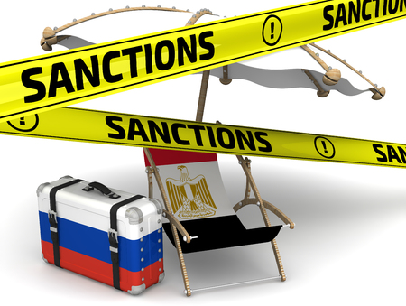 Russian sanctions against Egypt in tourism. Concept