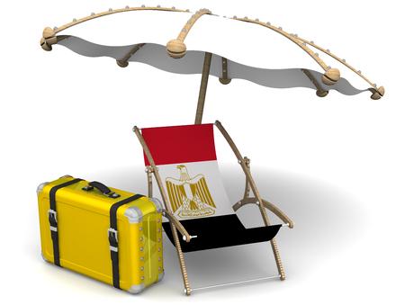 bandera de egipto: Vacaciones en Egipto. Concepto