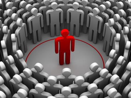 Die Person ist ein introvertierter oder sociophobe. Das Konzept Standard-Bild - 64260468