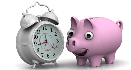 hoard: Time is money. Financial concept Stock Photo