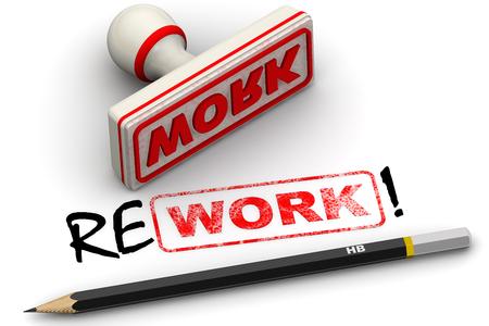 Work and rework. Corrected seal impression Reklamní fotografie
