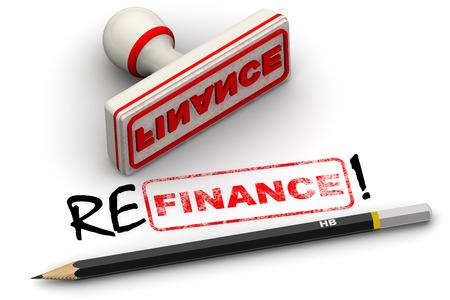 Refinance! Korrigierte Siegelabdruck Standard-Bild - 70006237