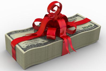 Money as a gift Stock Photo