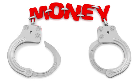servitude: Money as limiter of freedom Stock Photo