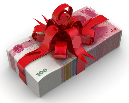 Money as a gift Stock Photo