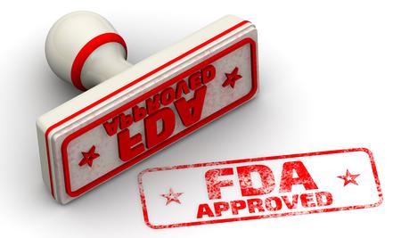 FDA approuvé. Sceau et empreinte