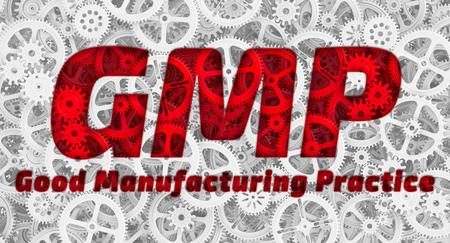 GMP Gute Herstellungspraxis Standard-Bild - 77493626