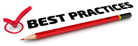 Best Practices. Das Häkchen Standard-Bild - 77823957