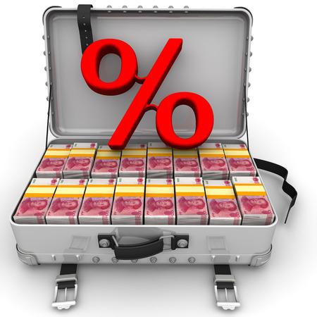 Advantageous percentage. Business concept