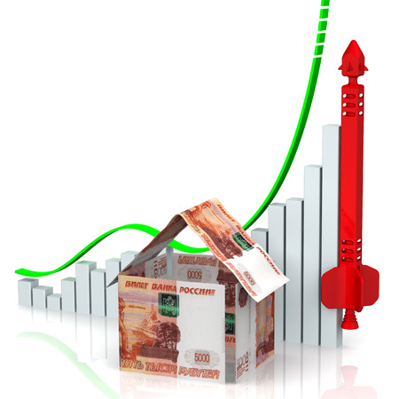 Rising real estate prices. Concept