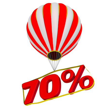 Seventy percent flies in a hot air balloon