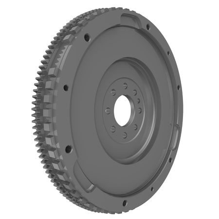 One car flywheel isolated on white background. Detail of the car. 3D Illustration Stock Photo