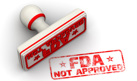 FDA is not approved. Seal and imprint