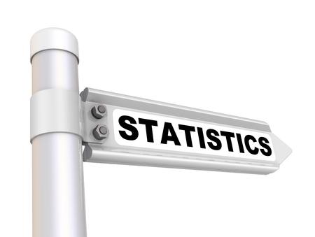 Statistics. Way mark 스톡 콘텐츠