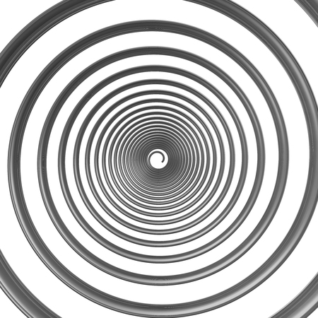 Gray helix isolated on a white background. 3D Illustration Stock fotó
