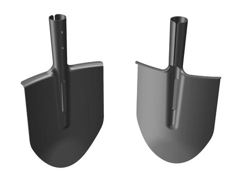 Bayonet shovel blade