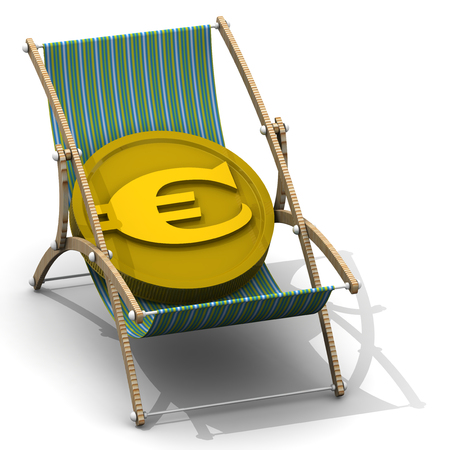 Cost of rest in Euro currency 版權商用圖片