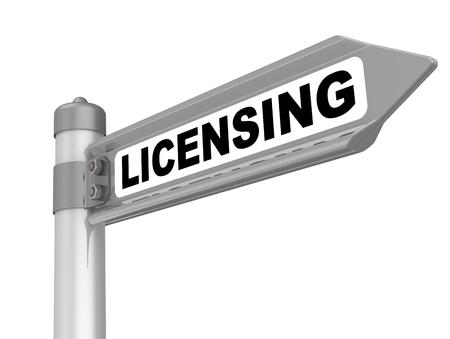 Licensing Way mark 스톡 콘텐츠