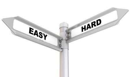 Easy and Hard. The way mark Imagens