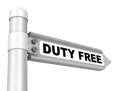 Duty free. The way mark