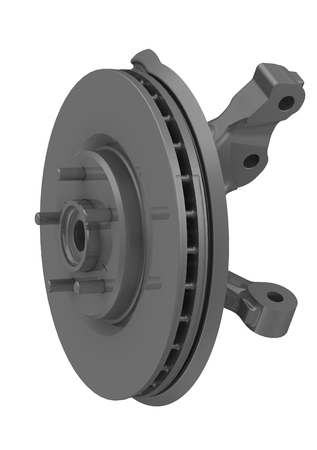 Rotary hub with brake disc