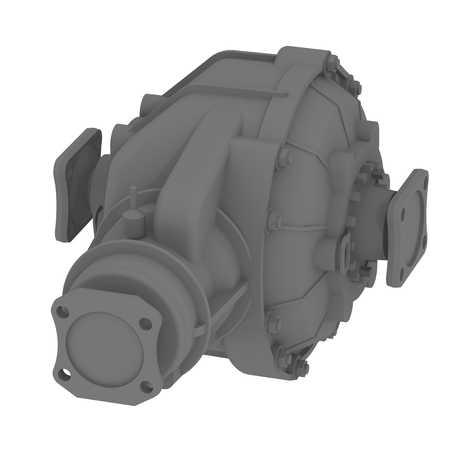 Car drive axle reducer isolated on a white surface