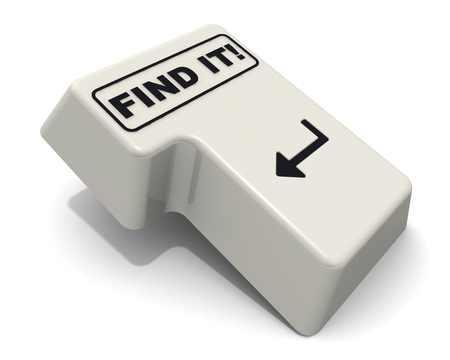 Find it! The enter key with text Stock fotó