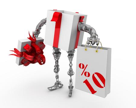 Discount of ten percentage 스톡 콘텐츠