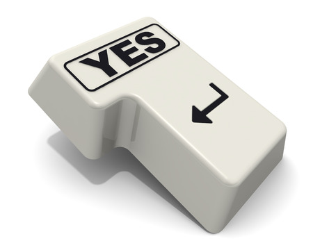 Enter key with Yes word