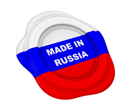 Made in Russia wax stamp