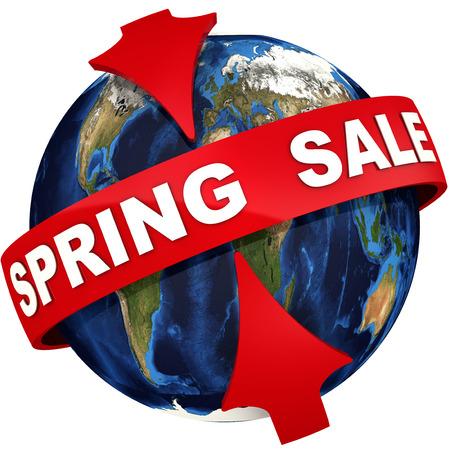 Global spring sale Stock Photo
