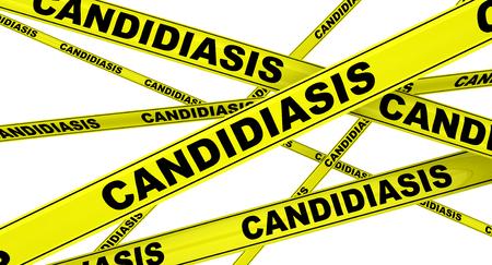Candidiasis. Yellow warning tapes