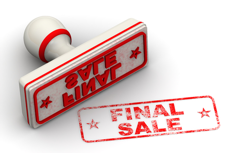 Final sale. Seal and imprint